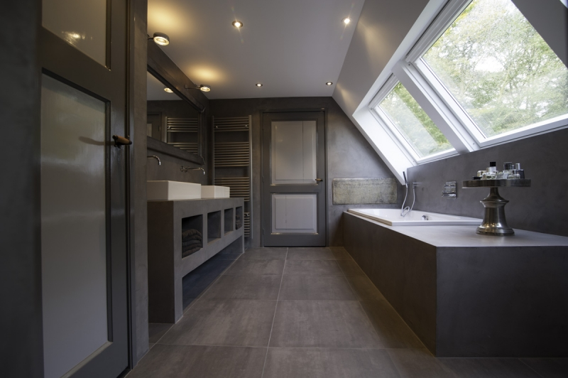 Badkamer Opknappen Tips ~ De Spaan Showroom ? Microcement badkamer Project Naarden