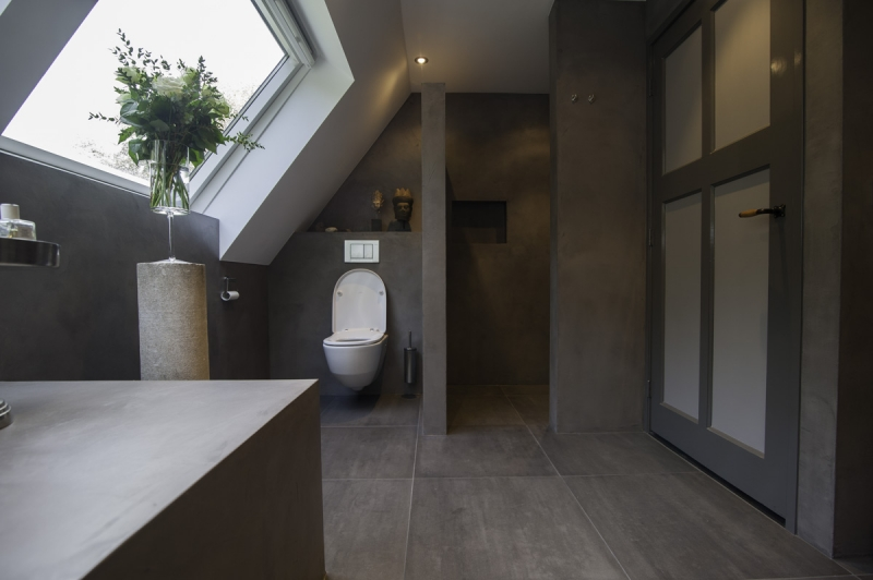 Kosten Badkamer Strippen ~ De Spaan Showroom ? Microcement badkamer Project Naarden