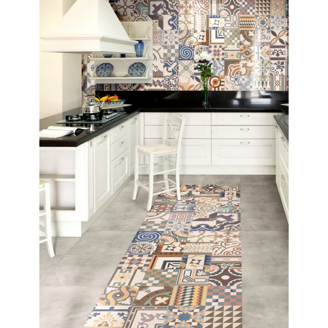 Glasplaat Keuken Monteren : Patchwork Ceramic Floor Tiles