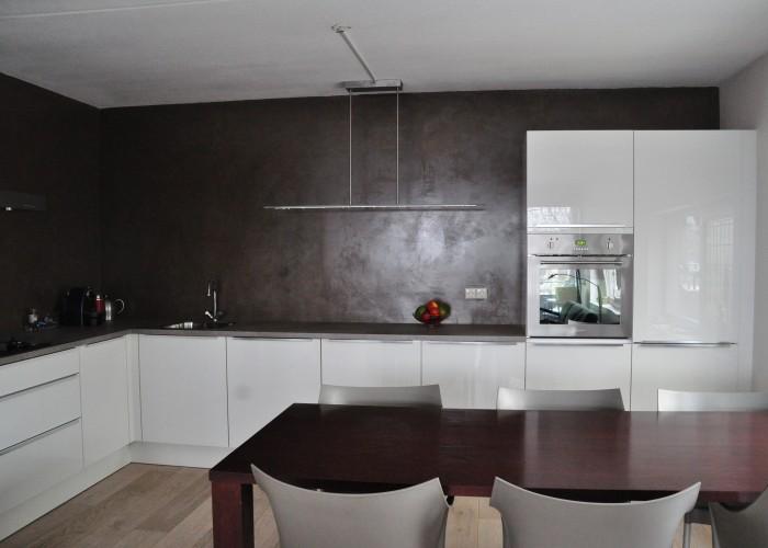 Glad Keuken Achterwand : De spaan showroom u stucwerk keukens achterwanden project en