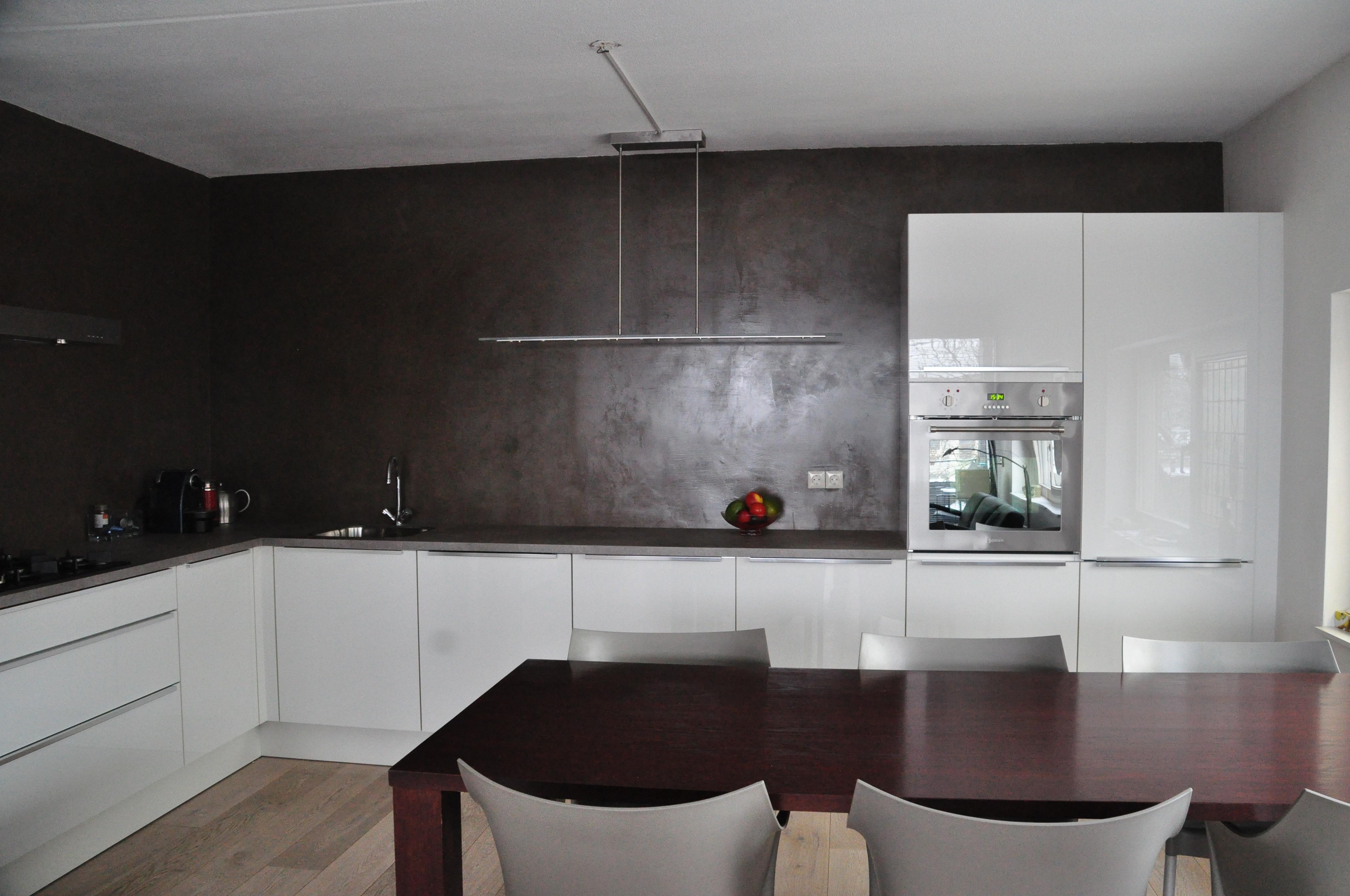 De spaan showroom stucwerk keukens achterwanden project en gelderland - Keuken in i ...