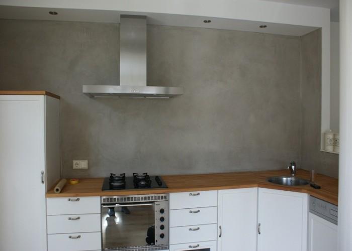 Achterwand Voor Keuken : De spaan showroom u stucwerk keukens achterwanden project en