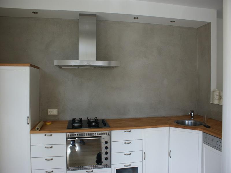 Betonlook keuken achterwand beste ideen over huis en interieur