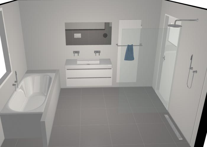 Badkamer ontwerp 3D Arnhem 2