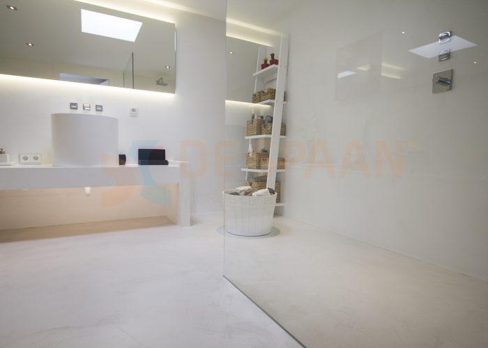 gietvloer badkamer wanden microcement vloer
