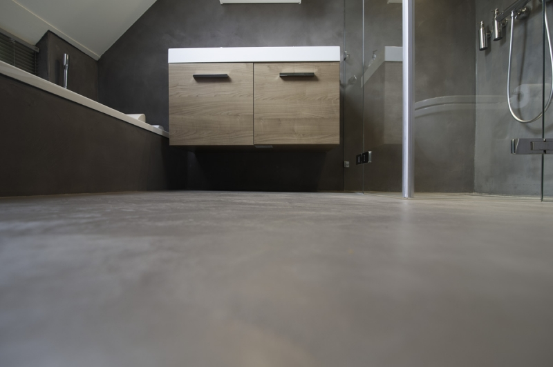 De Spaan Showroom Microcement Badkamer Project Naarden