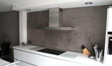 stucwerk keuken achterwand