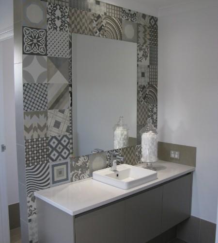 peronda wand decoratie badkamer de spaan showroom